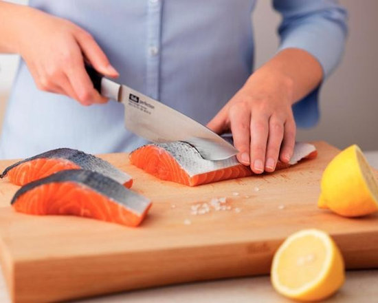 buy knives online - Knives from Fissler represent the cutting-edge reinterpretation of the traditional German knife. Each of there lines, Perfection and Profession combine stunning design with ultra-sharp edges, superior construction, and the best corrosion-resistance on the market. You can choose from the Asian-inspired yet traditional lines of the Profession line, to the sweeping 90 degree rotated tang of the Perfection line.
