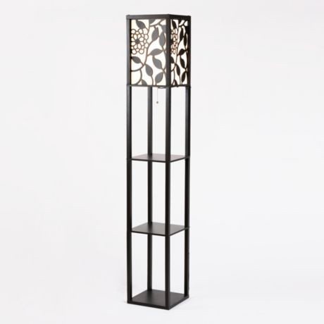 Floral shelf floor lamp eclectic floor lamps by Floor lamp with shelves