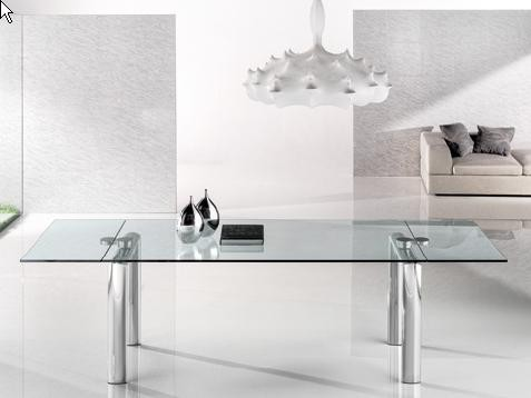 POLICLETO Q EXTENDIBLE CHROMED BASE DINING TABLE contemporary-dining-tables
