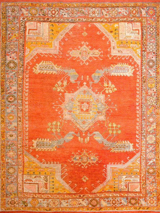 "Antique Turkish Oushak Carpets - #18836 antique Turkish Oushak carpet 9'2"" x 12'6"""
