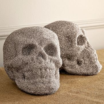 New Glitter Skull Holiday Decorations By West Elm