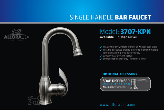 Allora Bar Faucet 3707-KPN contemporary kitchen faucets