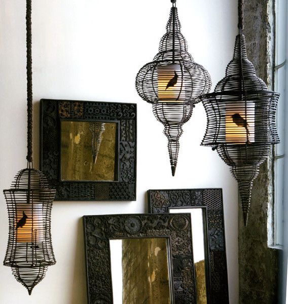 Roost Bird Cage Lamps eclectic-pendant-lighting