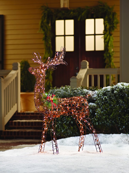 Home Accents Holiday Animated Grapevine Deer - 60 Inch -