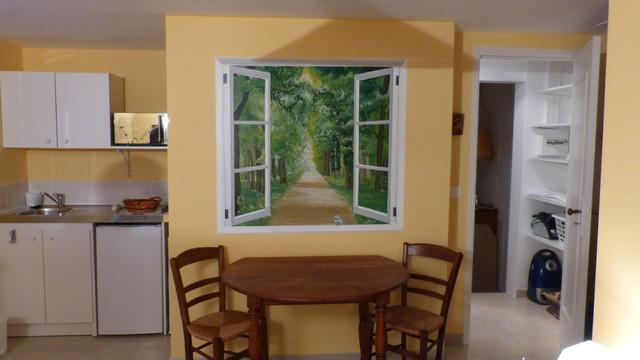 Peinture D Corative Dans Chambre D 39 H Te Farmhouse