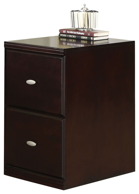 Cape Espresso Finish File Cabinet - Contemporary - Filing Cabinets - by Overstock.com