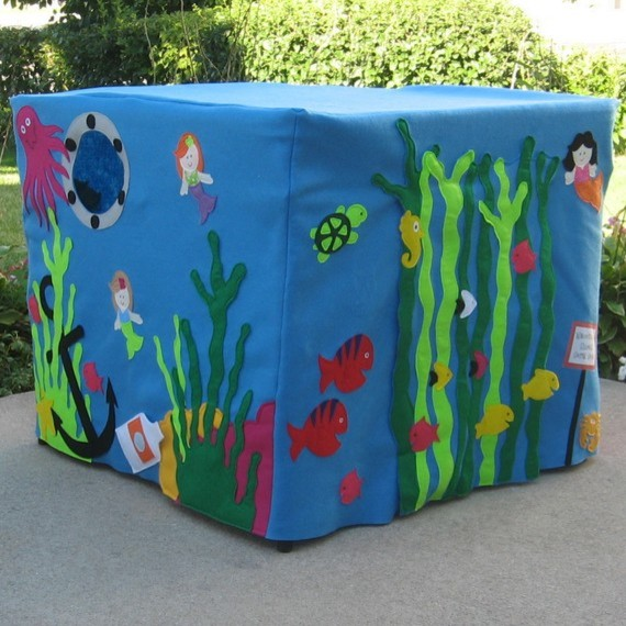 Mermaid Manor Card Table Playhouse by Miss Pretty Pretty eclectic-kids-toys-and-games