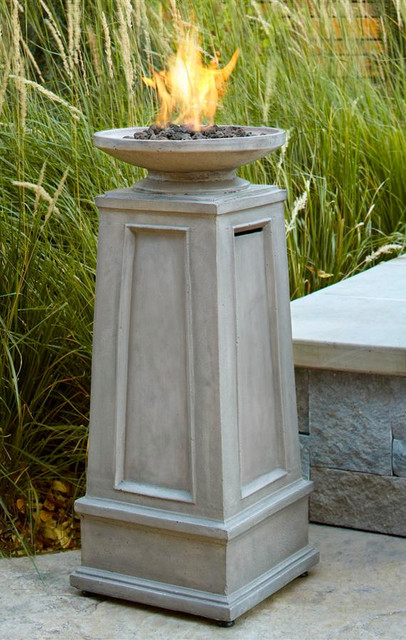 Corsica Propane Fire Column Traditional Fire Pits By