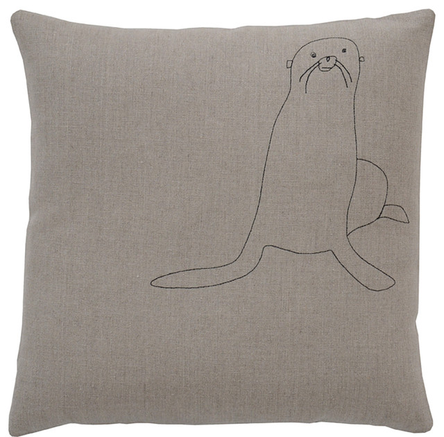 Galapagos Seal Pillow eclectic-decorative-pillows