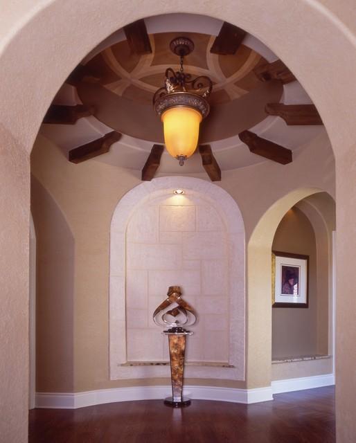Ceiling Treatments by Stadler Custom Homes mediterranean-entry