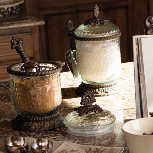 the gg collection glass canisters with scoop decorative kitchen canisters and jars