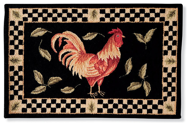 Checkered Rooster Area Rugs traditional-rugs
