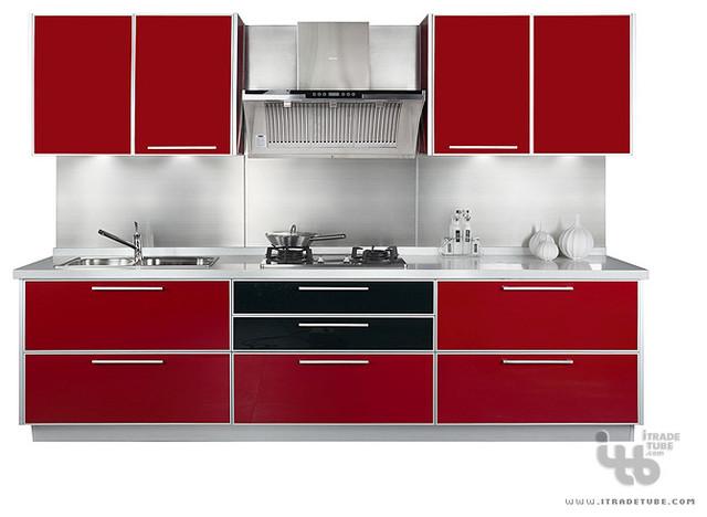 kitchen cabinets,modern kitchen cabinet,red kitchen,cabinetry  Modern