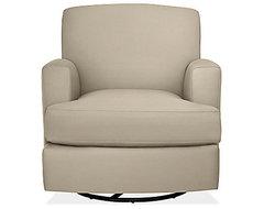 Carter Glider-Swivel Chair & Ottoman contemporary-gliders