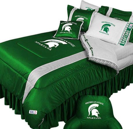 NCAA Michigan State Comforter Pillowcase College Bedding, Twin contemporary-kids-bedding