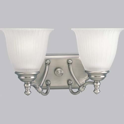 P2730 81 renovations antique nickel two light bath for Traditional bathroom lighting fixtures