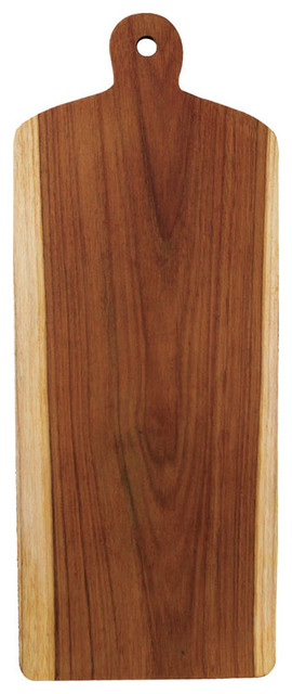 Teak Board With Light Edges, Large traditional-cutting-boards