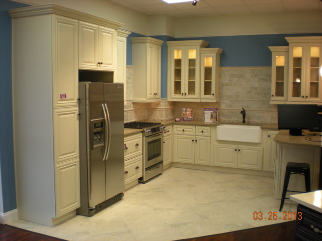Victoria Ivory Display Traditional Kitchen Cabinets