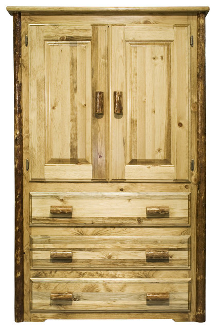 Montana Woodworks Armoire in Glacier Country rustic-dressers-chests-and-bedroom-armoires