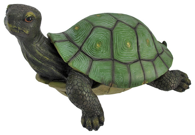 Gorgeous Lifelike Tortoise Garden Statue Turtle Decor contemporary-garden-statues-and-yard-art