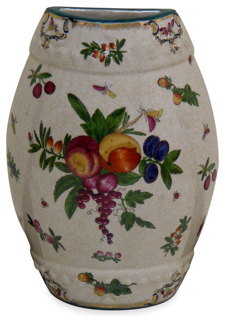 Hand Painted Wall Hanging Vase asian-home-decor