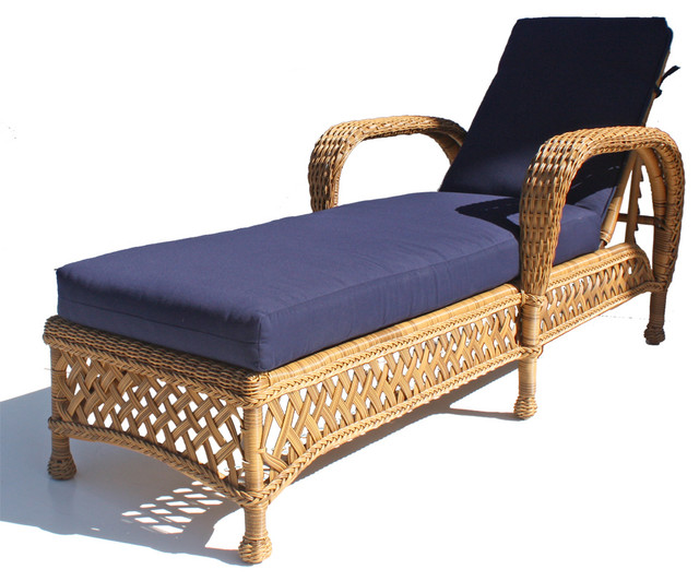 Montauk Outdoor Wicker Patio Chaise tropical-furniture