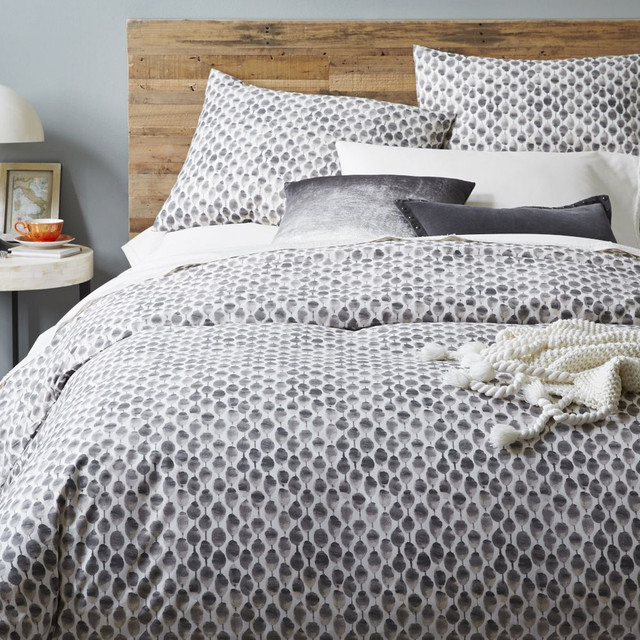 Organic Stamped Dot Duvet Cover Pillowcases West Elm