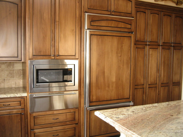 Stained alder cabinets mediterranean kitchen cabinetry for Alder kitchen cabinets