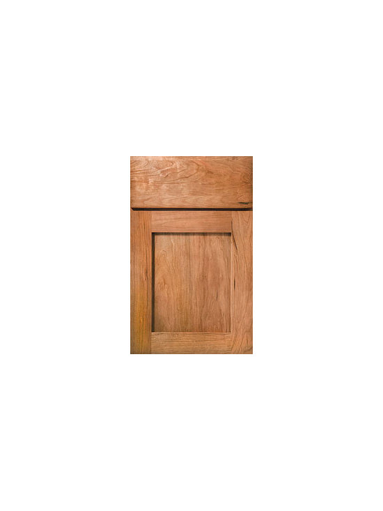 Cherry Door Styles from Wellborn Cabinet, Inc. - Hanover Cherry's clean lines complement contemporary and casual looks with its Shaker door style and slab drawer front shown here in Natural Cherry.