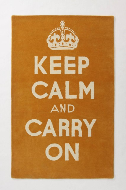 Keep Calm And Carry On Rug eclectic-rugs