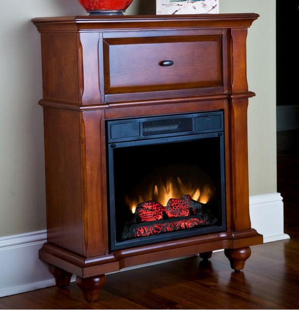 auckland petit foyer electric fireplace heater in cocoa