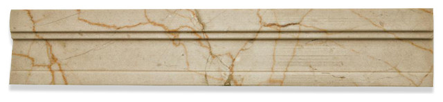 Novel Crema Marfil Chair Rail Marble Tile Liner accent-trim-and-border-tile