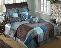 Brown and teal country bedroom decor - Teal and brown bedroom ideas ...