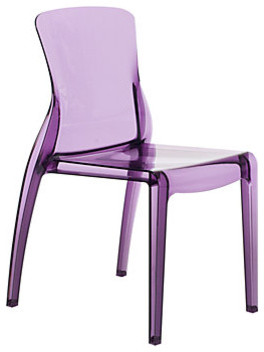 Crystal Dining Chair - Amethyst modern dining chairs and benches