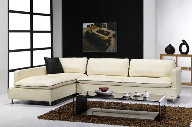 Contemporary style furniture italian leather upholstery for Modern furniture miami