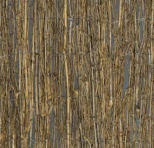 Bamboo Twig Fence eclectic-home-fencing-and-gates