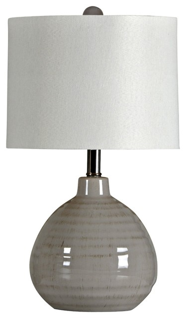 Contemporary Cool Grey Ceramic Jar Table Lamp contemporary table lamps