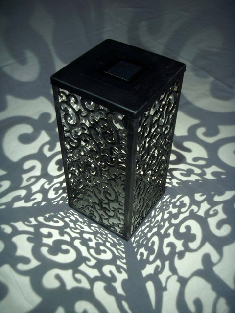 Shadows and Light Graycliff Solar LED Votive Lamp traditional-outdoor-table-lamps