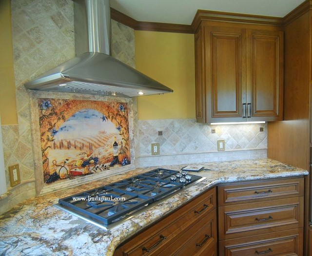 tuscany window kitchen backsplash tile mural for tuscan decor
