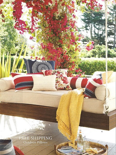 daybed swing eclectic exterior