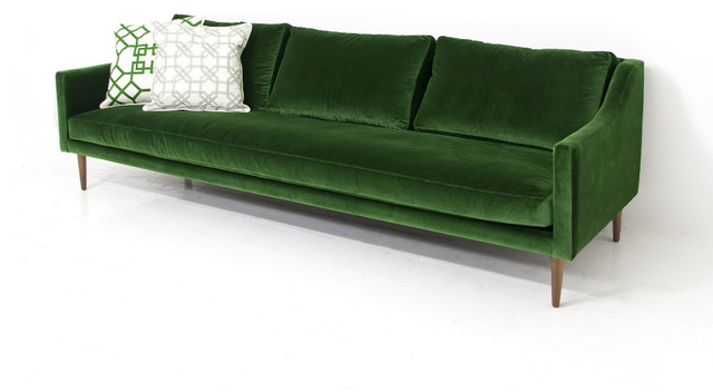 Naples Sofa, Emerald-Green Velvet - Sofas - by ModShop - LA, OC, NY, Palm Springs u0026 Miami