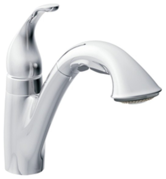 Moen Traditional Bathroom Faucet: Moen 7545C Camerist Single Handle Pullout Kitchen Faucet