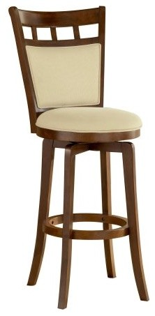Hillsdale Jefferson 30 in. Swivel Bar Stool - Brown Cherry contemporary-bar-stools-and-counter-stools