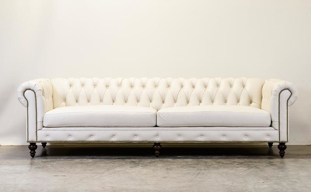 White Chesterfield Traditional Sofas And Sectionals charlotte by COCOCO Home, inc