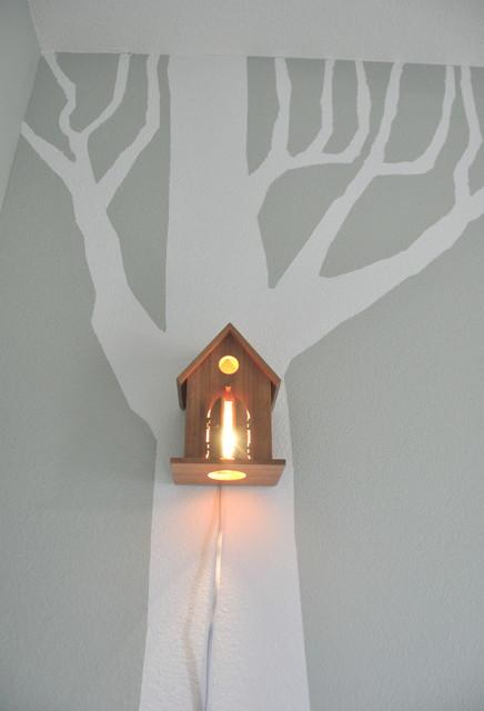 Avery Wall Hanging Birdhouse Lamp : Nursery Wall Hanging Birdhouse Lamp - Modern - Baby And Kids - orange county - by Modern Treetop ...