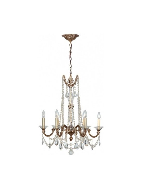 Delancey 6 Light Roman Bronze Chandelier - Bronze, gold and solid brass are back in fashion. The Delancey collection embraces this trend, combining our sumptuous Roman bronze finish with handcrafted arms, clear cut crystal swags and curvy pendants.