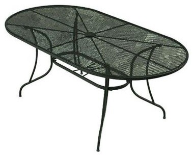 Wrought Iron Patio Dining Table Including Brown Iron Dining Chair
