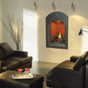 Modern Style Arched Indoor Gas Fireplace modern-fireplaces