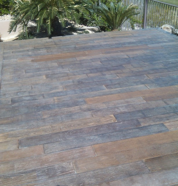 Flooring made from Concrete Tiles traditional