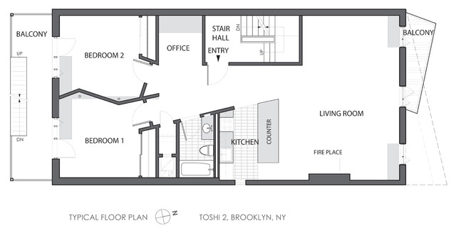 Toshi 2 Apartment Building Modern Floor Plan New